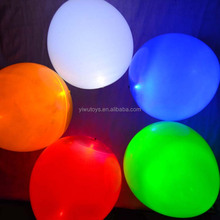 Helium quality rubber printing with logo latex LED party balloon for decoration