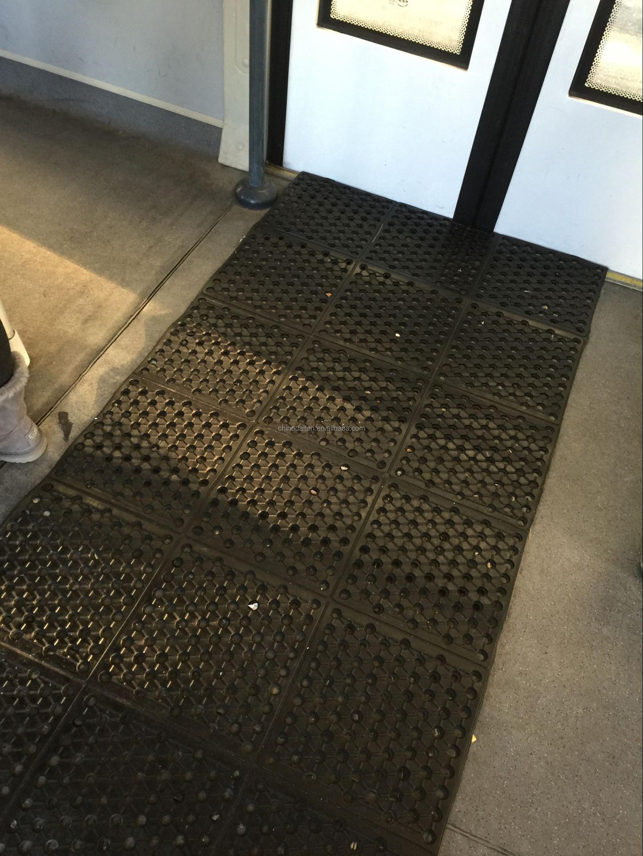 Commercial Fire Resistant Interlocking Rubber Flooring Mat