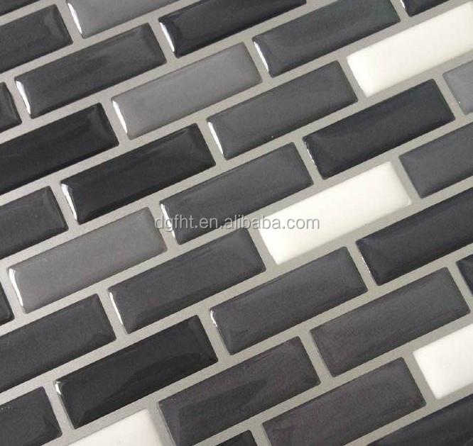 Auto adhesivo de la cocina azulejos de mosaico pegatinas de ...