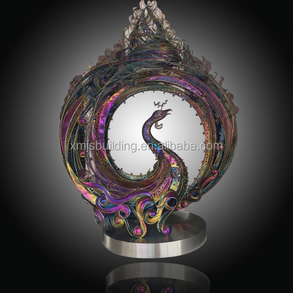 peacock metal wall sculpture for home decoration