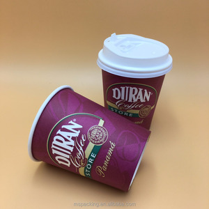 Wholesale Custom Logo Printed 16oz Paper Coffee Cup With Lids