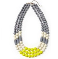 Zooying colour acrylic resin beads multi-stranded necklace Statement