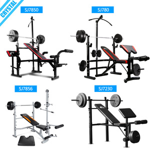 SJ-780 Free shipping Multi home gym adjustable weight lifting exercise bench with preacher curl bench