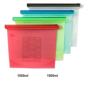 BHD strong sealing reusable silicone food storage bag keep food fresh