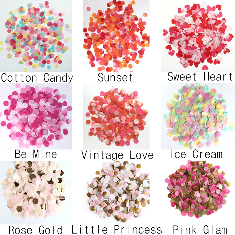 2017 Hot sale Mixed Colorful Tissue Paper Confetti for wedding <strong>decoration</strong>