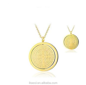 Round Religious Jewelry Latest Design Saudi Gold Jewelry Necklace