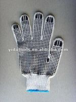2012 hot sale PVC dotted cut resistant work gloves