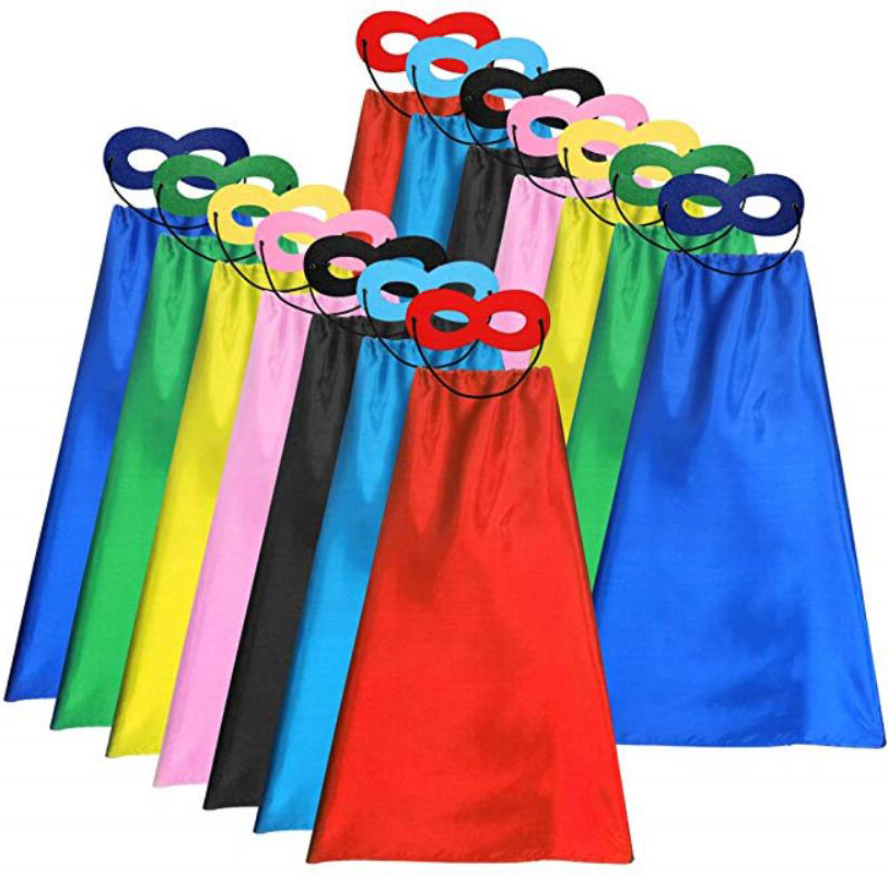 CAPE-0011 Party Fancy Kids Kinderen Superhero Cape voor Halloween