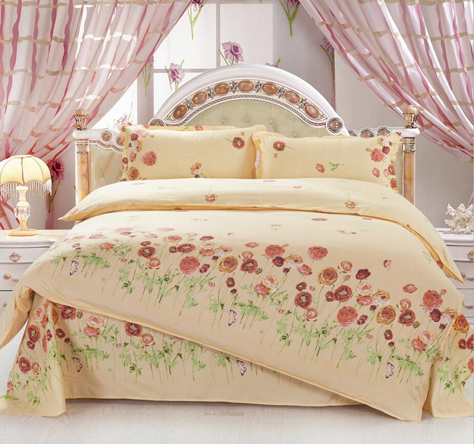 Diamond Velvet 4 Pcs Bedding Set Printed Bed Sheet King Size 200*230 cm Bed Cover Quilt Pillow