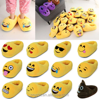 Cheap Plush Indoor fruits shape Warm Winter Emoji Slippers and Shoes for Kids / OEM factory with ICTI audit kids shoes