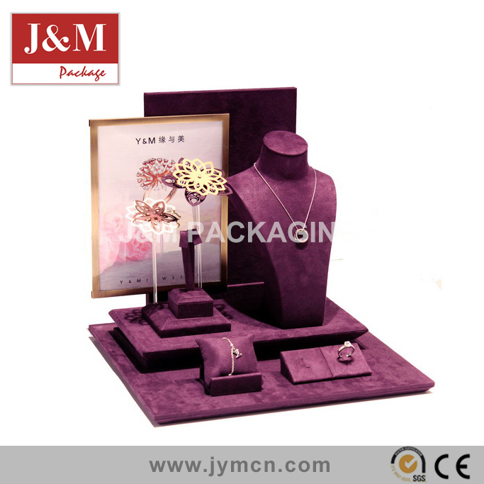 jewelry vitrine props wholesale purple velvet made in china