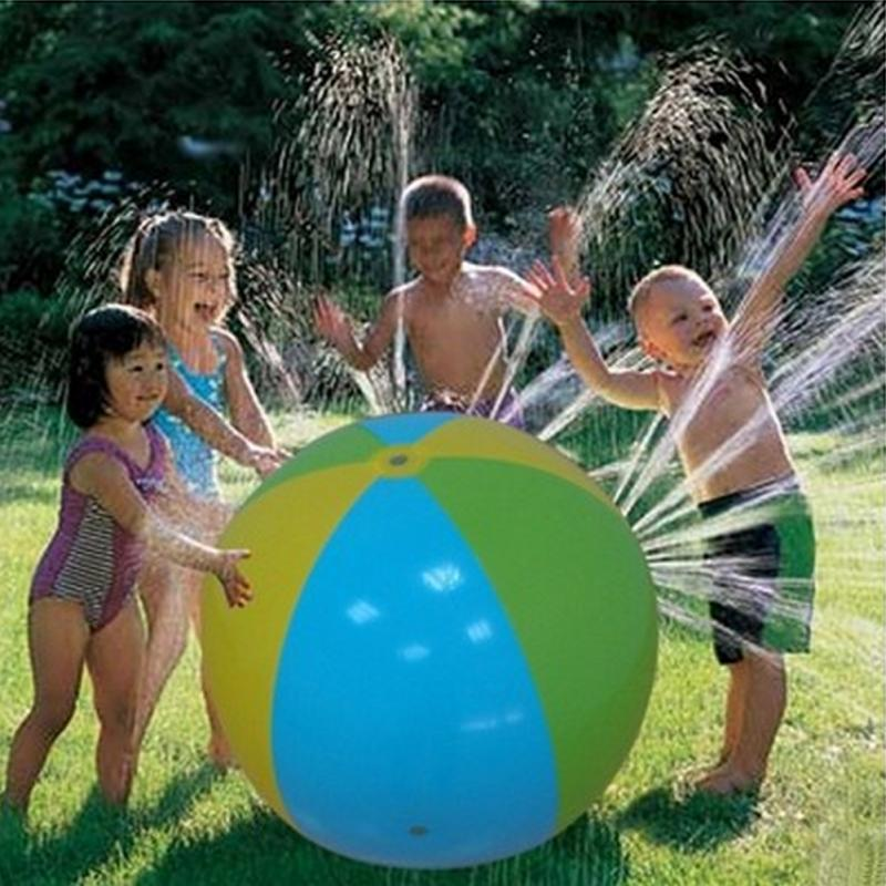 Inflatable Spray Water <strong>Ball</strong> Children\'s Summer Outdoor Swimming Beach Pool Play The Lawn <strong>Balls</strong> Playing Smash Funny Toy