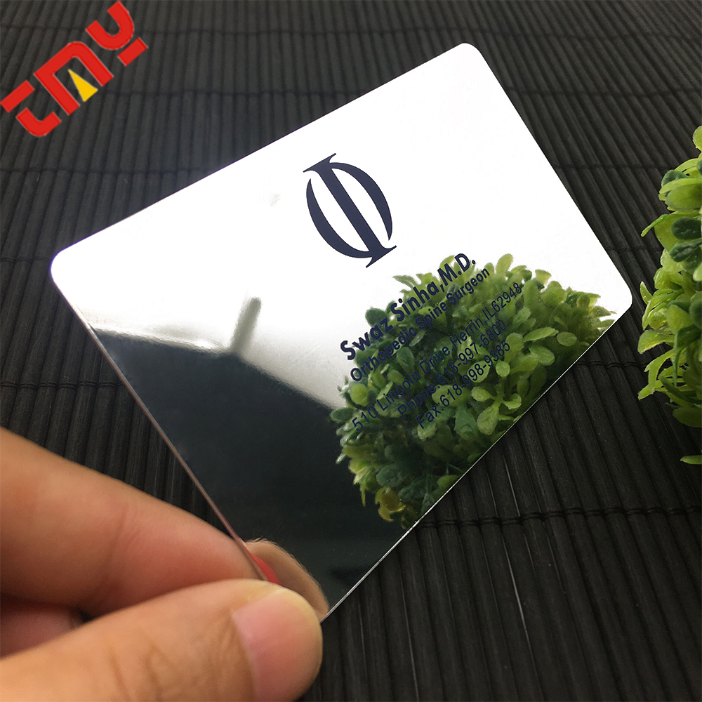 Custom Luxury Die 컷 Business Card Printing, 플라스틱 Mirror 호 일 Business Cards Printing Custom Design