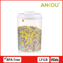 Factory Directly Supply 1500ml Food Grade Round Plastic Container Airtight Pet Food Storage Containers