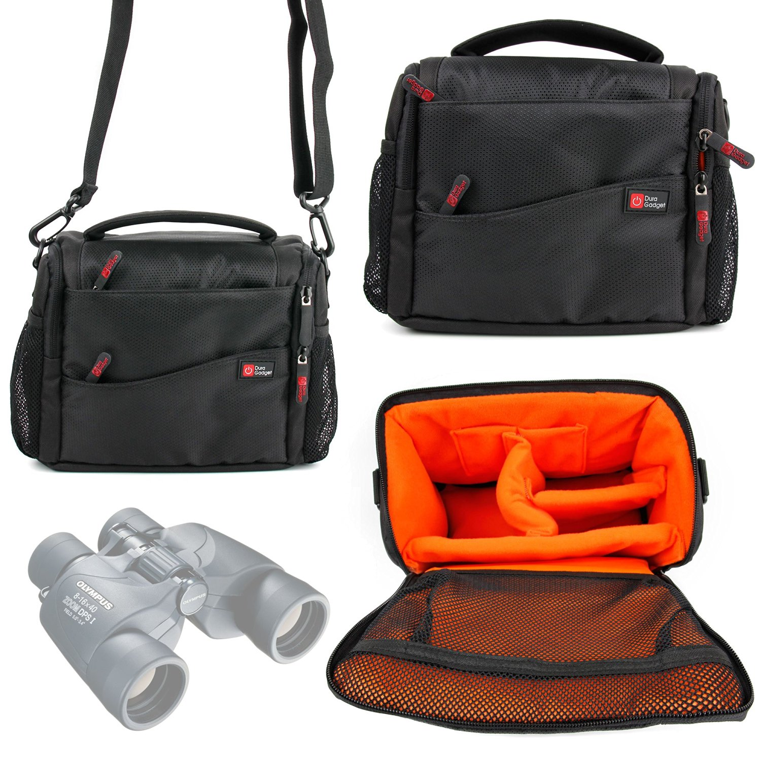 Padded Double-zip Holdal Case W/ Strap For Use W/ N1240586 8-16x40 Binoculars Cameras & Photo Binocular Cases & Accessories