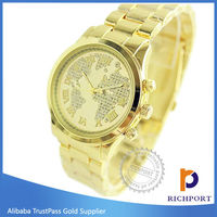 New Arrival Roman Analog Alloy Gold Wristwatch Branded Lady Watch