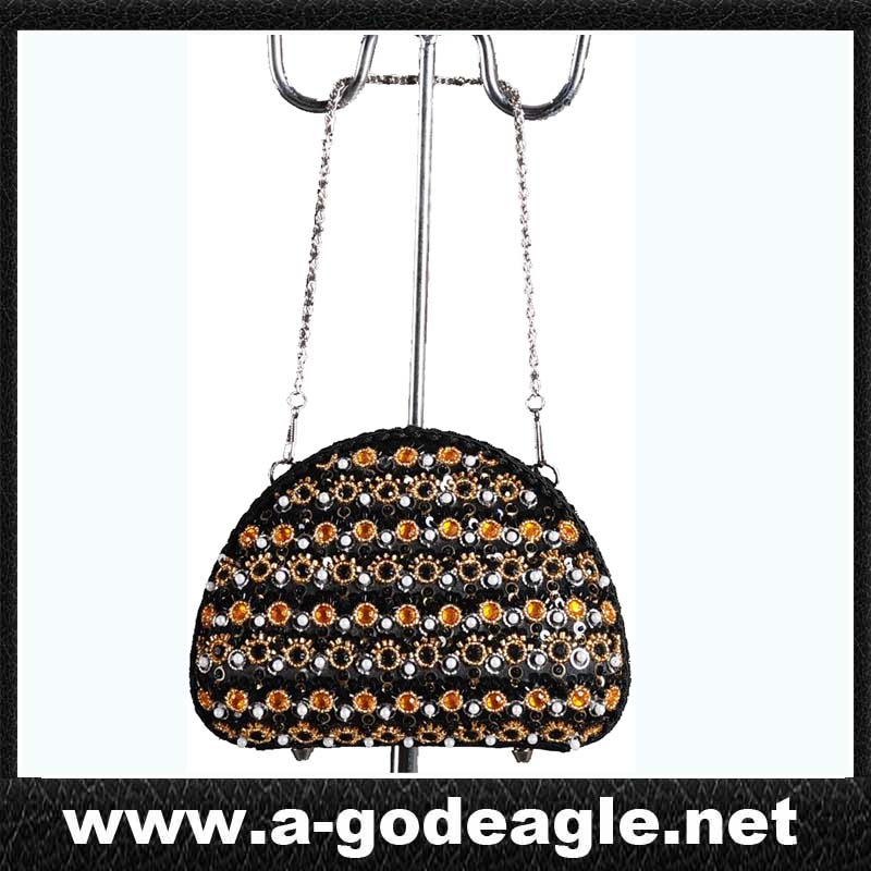 rhinestone handbag with metal handle G2055-2