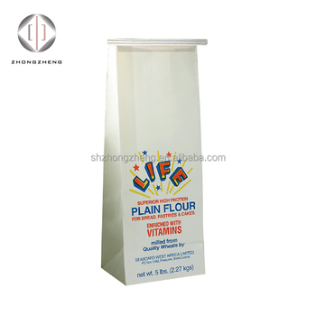 Factory Sugar Flour Packing Bags Custom Printed Heat Seal Different