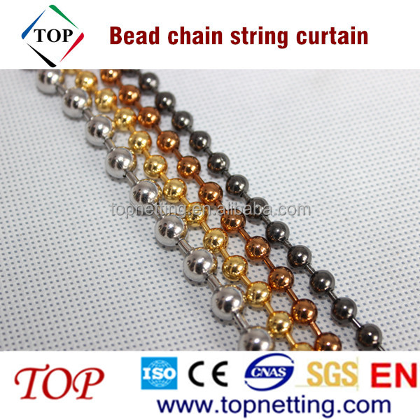 Shimmer 6mm bead chain string curtain