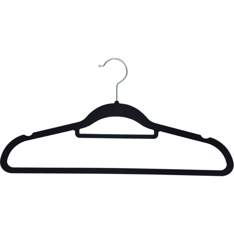 Nieuwe trend 2018 hot selling amazon plastic pak fluwelen hanger