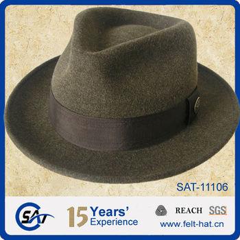 Handmade Men s Wool Felt Fedora Hat eb0a9c3234ac