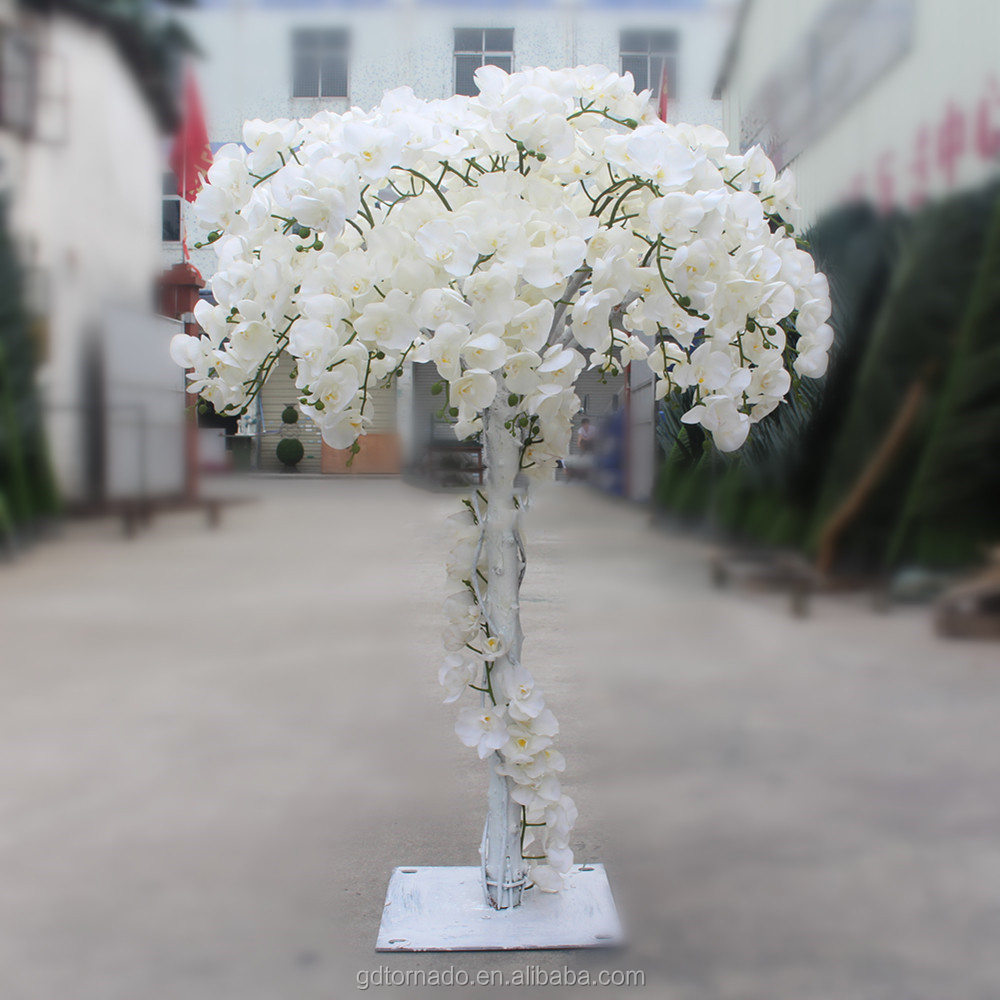 Tc201708 popular high quality artificial white flower treesilk tc201708 popular high quality artificial white flower treesilk cloth orchid flower make trees in mightylinksfo