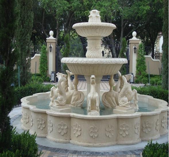 estilo moderno caballo esculpidas fuente de agua para exterior jardn decoracin