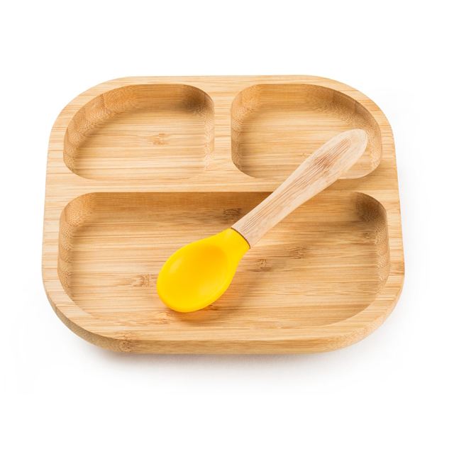 2020 is a hot seller Eco-Friendly bamboo baby <strong>plate</strong> with silicone suction