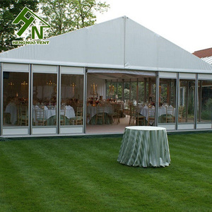 A frame aluminium profile tent , 150 people party wedding tent decoration for event