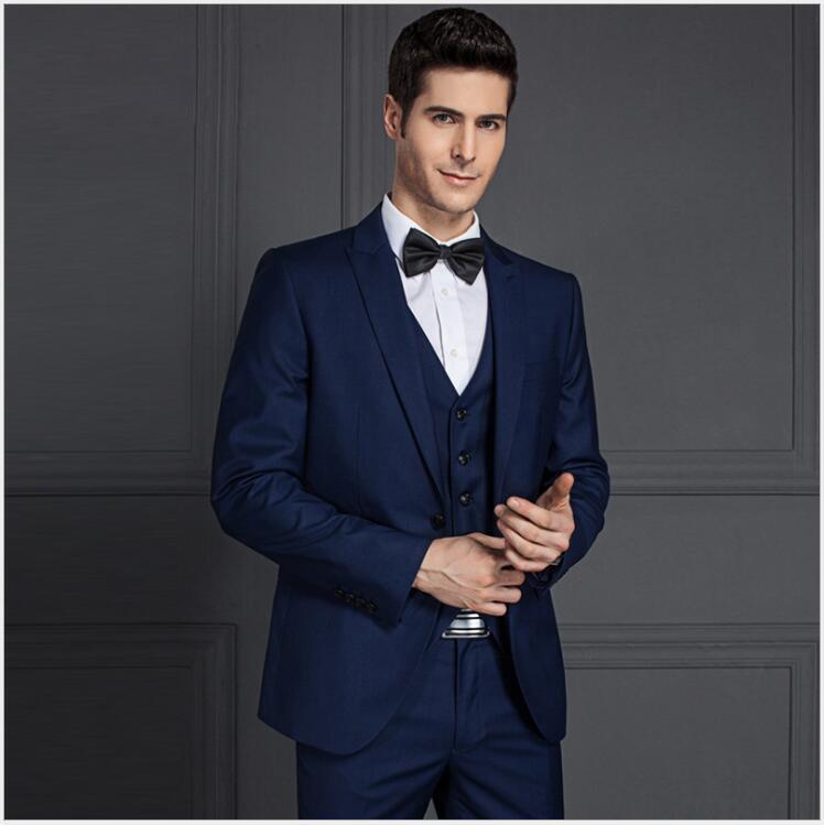Coat Pant Men Grey Wedding 3 Piece Suit - Buy 3 Piece Suit Product ...