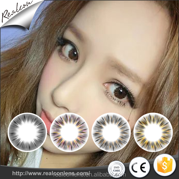 Realcon Supplier Wholesale yearly contact lenses cosmetic Contact Lenses colored contact lenses фото