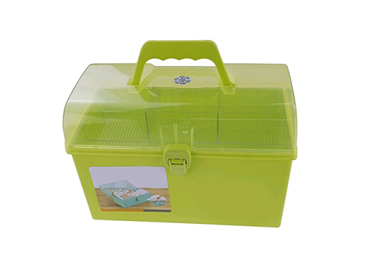 <strong>Plastic</strong> Storage Organizer Box with Tray and Handle, Multi-Purpose storage box