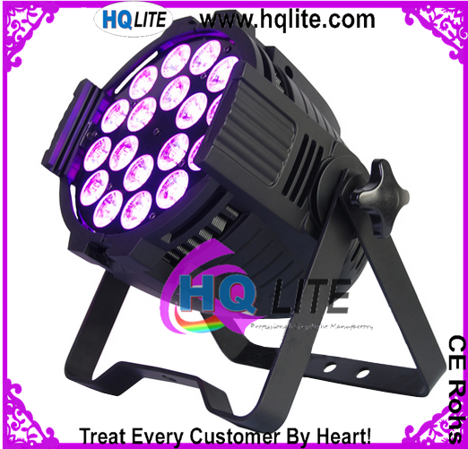 18*12W RGBW 18W RGBWA UV Indoor Led Par Light 16Bit for party barn doors led par lighting