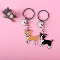 Fashion Chihuahua pet dogs KeyChains OEM CUSTOM Best friend's gift key chain women Jewelry car Keyring Dog keychains