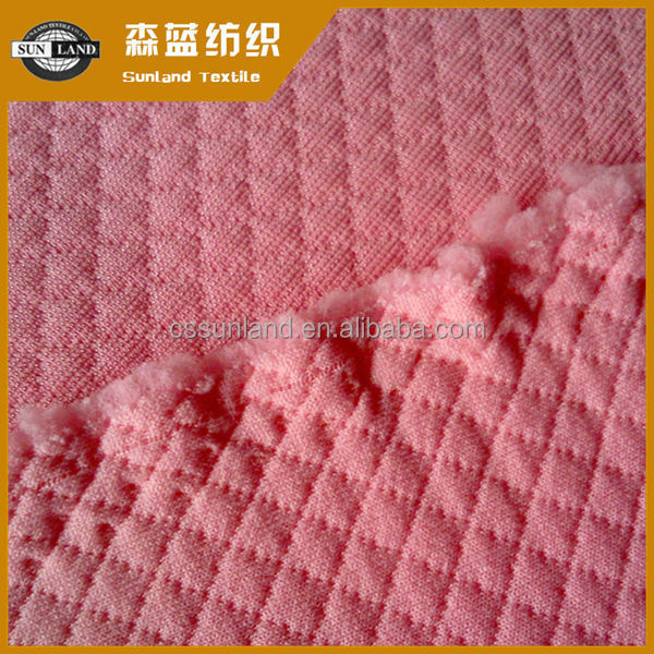 100% polyester jacquard diamond interlock knitting fabric for pillow