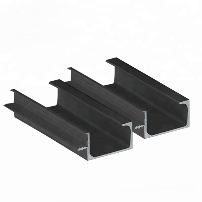 anodized / powder coated black aluminium alloy extrusion louvre panel  table saw  profile for cheap fence price