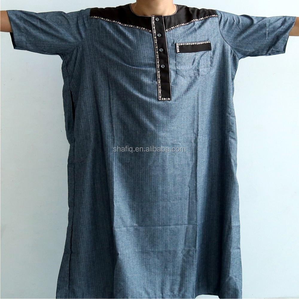 IKAF sleeping robe /Morocco man sleeing robe /arbric men jubba short  sleeves arab thobe