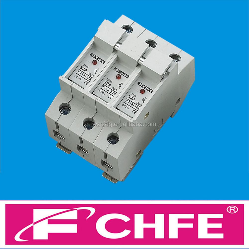 Fchfe - Cf05 Rt18-32x 10x38 3p 32a 500v Cylindrical Fuse Holder - Buy 500v  Fuse,32a Fuse,Lindner Fuse Product on Alibaba.com