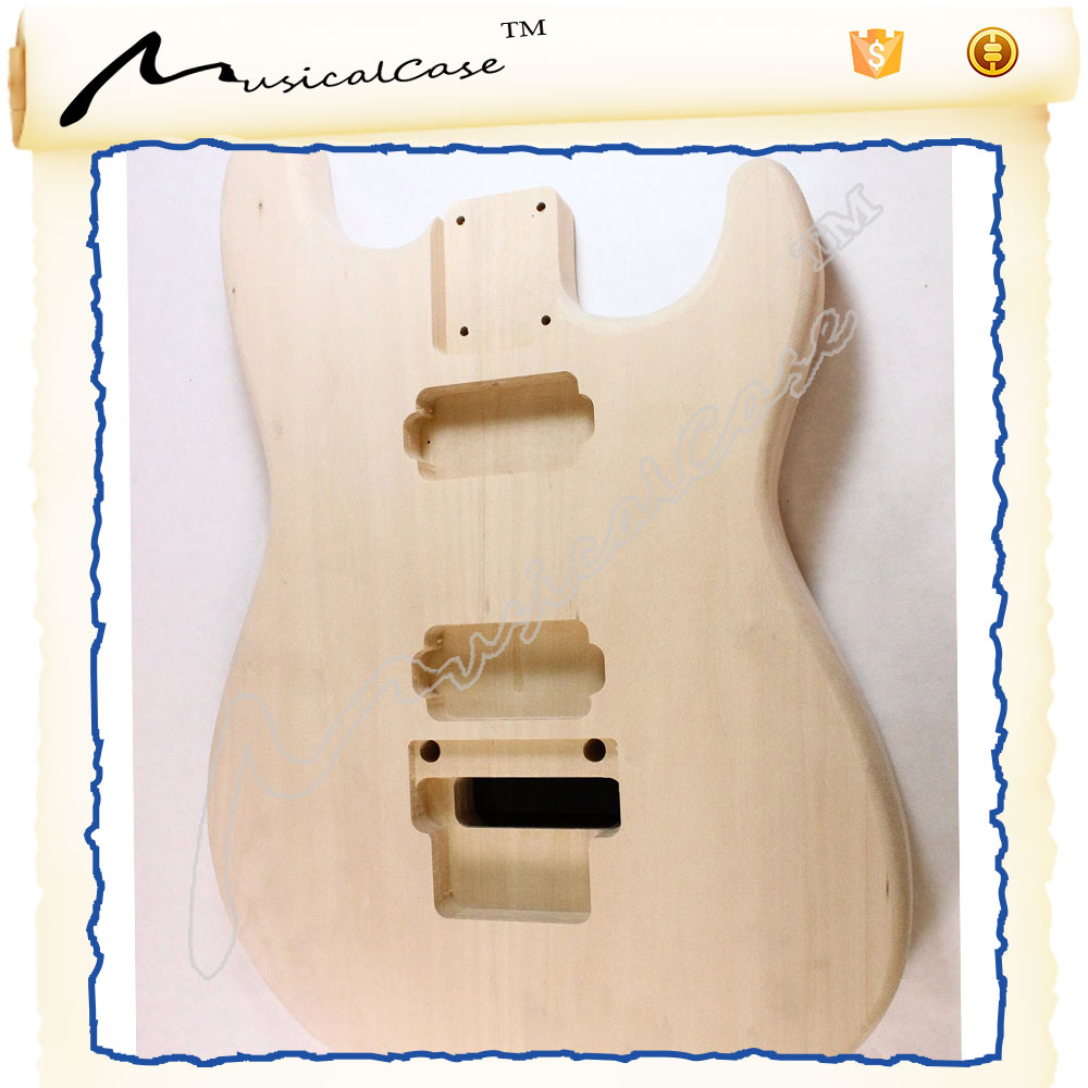 DIY electric guitar use unfinished guitar body , guitar kits china