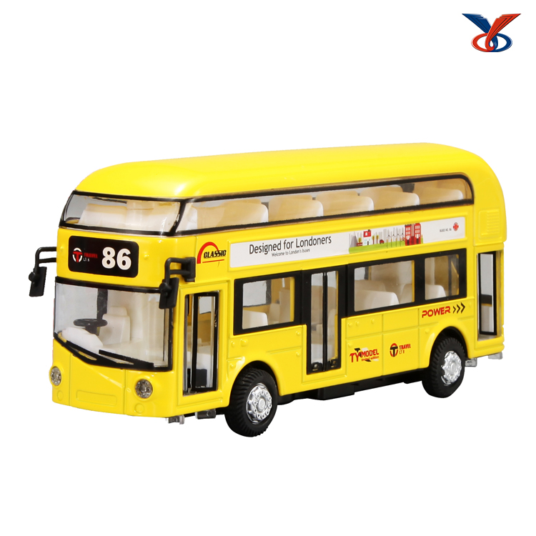 diecast bus 1/36 scale model pull back function with music and light