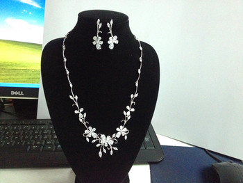 New design cubic zircon cheap wedding bridal set