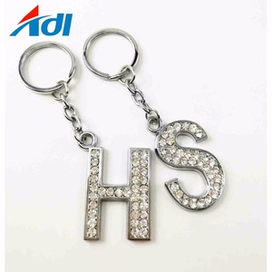 Custom car out metal turbo diamond heart keychain for sale