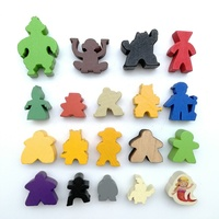 Wholesale Good Quality Wooden Board Game Pieces Pawns