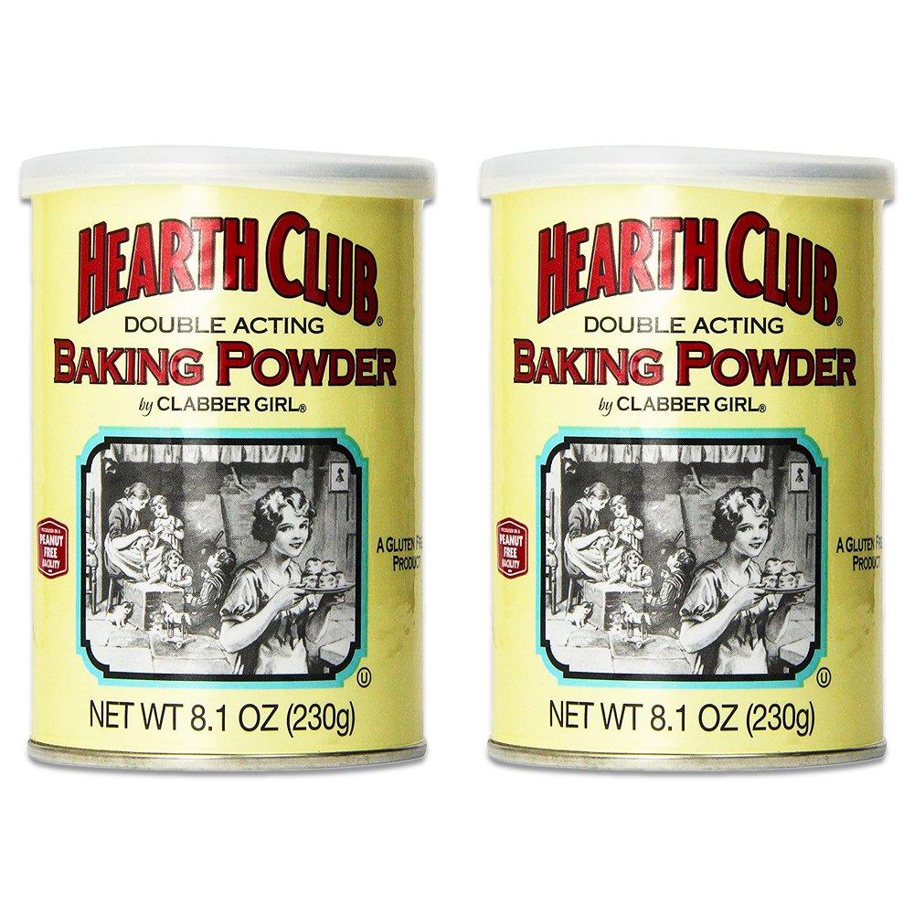 Clabber Girl Hearth Club Baking Powder, 8.1 oz. (2 Pack)