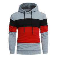 Factory direct sale red black palace drawstring men cotton polyester slim fit hoodie
