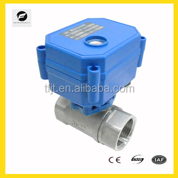 Mini solenoid water valve motor operated cwx 15 food grade for How motor operated valve works