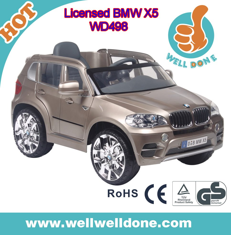 Licensed BMW X5 electric car for kids ride on, with double door open, goodbaby battery car WD498