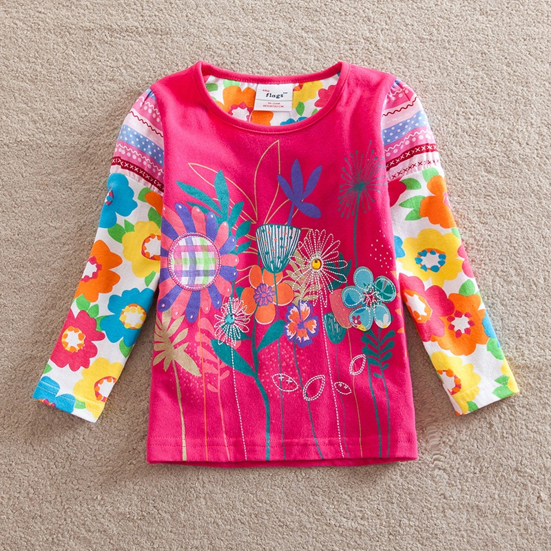HTB1EAd0b8LN8KJjSZFpq6zZaVXam - Girls Long Sleeve All Year T-Shirt, Long Sleeve, Cotton, Various Designs and Prints