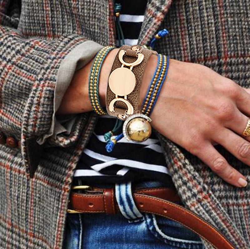 Adjustable Spirit Women Wide Vintage Leather Cuff Bracelet фото