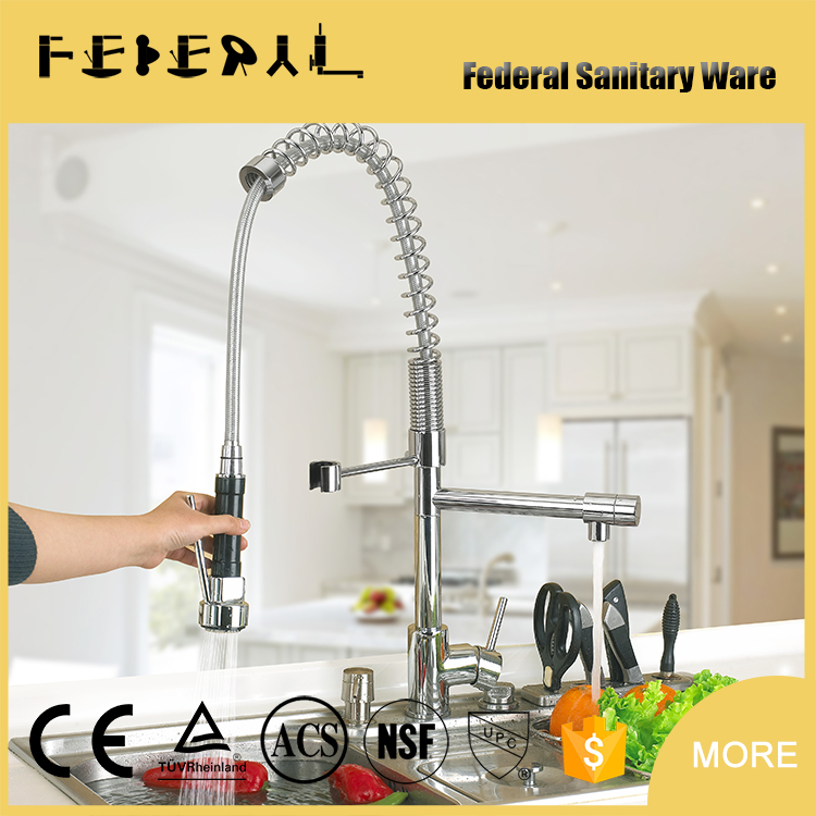 304 Spring retractable pull out sink flexible hose for kitchen faucet